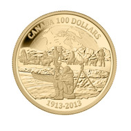 2013 $100 GOLD COIN - 100TH ANNIVERSARY OF CANADIAN ARCTIC EXPEDITION