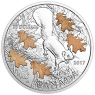2017 $20 FINE SILVER COIN THE NUTTY SQUIRREL AND THE MIGHTY OAK
