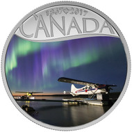2017 $10 FINE SILVER COIN CELEBRATING CANADA'S 150TH FLOAT PLANES ON THE MACKENZIE RIVER