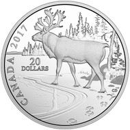 2017 $20 FINE SILVER COIN – NATURE'S IMPRESSIONS: WOODLAND CARIBOU