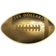 2017 $200 PURE GOLD COIN FOOTBALL-SHAPED AND CURVED COIN