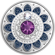 2017 $3 FINE SILVER COIN - ZODIAC SERIES - AQUARIUS