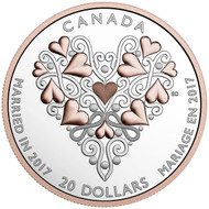 2017 $20 FINE SILVER COIN BEST WISHES ON YOUR WEDDING DAY!