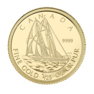 2012 1/25TH OZ. 50-CENT GOLD COIN - THE BLUENOSE