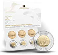 2012 CIRCULATION COINS AND TEST TOKENS SET - MINTAGE: 25000