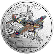 2017 $20 FINE SILVER COIN – AIRCRAFT OF THE SECOND WORLD WAR SERIES: AVRO ANSON