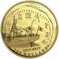 2017 $100 14-KARAT GOLD COIN 100TH ANNIVERSARY OF THE HALIFAX EXPLOSION