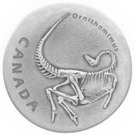 2017 $20 FINE SILVER COIN ANCIENT CANADA: ORNITHOMIMUS
