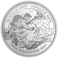 2017 $20 FINE SILVER COIN - SECOND WORLD WAR: BATTLEFRONT SERIES - THE BATTLE OF DIEPPE