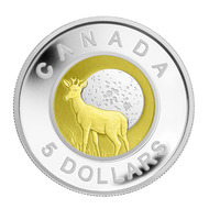 2011 $5 SILVER AND NIOBIUM COIN - FULL BUCK MOON
