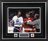 Battle of Alberta Dave Semenko & Tim Hunter Dual Signed Framed 8x10 Photo