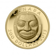 2013 $200 PURE GOLD COIN - GRANDMOTHER MOON MASK