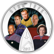 2017 $30 FINE SILVER COIN STAR TREK™ - FIVE CAPTAINS
