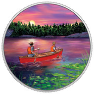 2017 $15 FINE SILVER COIN GREAT CANADIAN OUTDOORS: SUNSET CANOEING