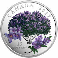 2017 $15 FINE SILVER COIN CELEBRATION OF SPRING: LILAC BLOSSOMS