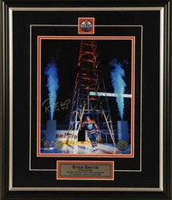 Ryan Smyth Edmonton Oilers Back Home Under The Derrick Signed 8x10 Photo