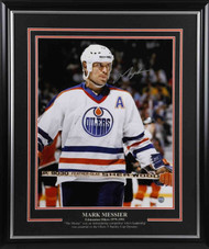 Mark Messier Edmonton Oilers Signed - The Stare -8 x 10 Framed Photo