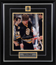 Terry O'Reilly Boston Bruins - Bloody Post Fight - Signed 8x10 Photo