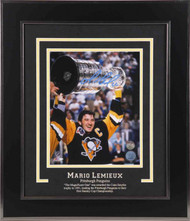 Mario Lemieux Pittsburgh Penguins 1991 Stanley Cup Signed 8x10 Photo