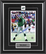 Kent Austin Saskatchewan Roughriders Green Action Signed and Framed 8x10 Photograph