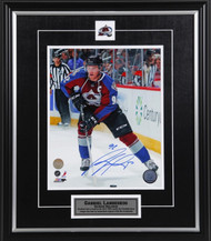 Gabriel Landeskog Colorado Avalanche Looking Up Ice Signed 8x10 Photo