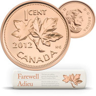2012 SPECIAL WRAP ROLL - 1-CENT COINS - THE LAST PENNIES