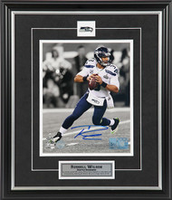 Russell Wilson Seattle Seahawks Superbowl Rollout Signed 8x10 Photo
