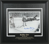 Bobby Orr - Boston Bruins The Goal Signed 8x10 Framed Photo