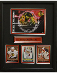 CHICAGO BLACKHAWKS POSTCARD 11X14 FRAME