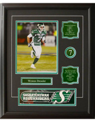 WESTON DRESSLER 16X20 FRAME - SASKATCHEWAN ROUGHRIDERS