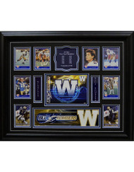 TEAM HISTORY - WINNIPEG BLUE BOMBERS 16X20 FRAME