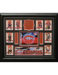 TEAM HISTORY - MONTREAL CANADIENS 16X20 FRAME