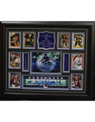 TEAM HISTORY - VANCOUVER CANUCKS 16X20 FRAME