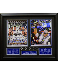 SEATTLE SUPER BOWL 48 - RUSSELL WILSON 16X20 FRAME