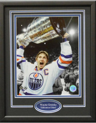 WAYNE GRETZKY WITH CUP 11X14 FRAME - EDMONTON OILERS