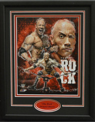 THE ROCK DWAYNE JOHNSON COMPOSITE 11X14 FRAME