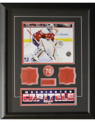 BRADEN HOLTBY 16X20 FRAME - WASHINGTON CAPITALS
