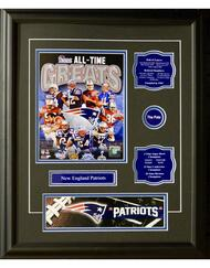 NEW ENGLAND PATRIOTS ALL-TIME GREATS 16X20 FRAME