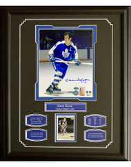 DAVE KEON AUTOGRAPH 16X20 FRAME - TORONTO MAPLE LEAFS