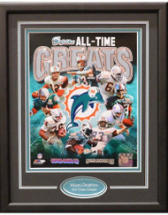MIAMI DOLPHINS ALL TIME GREATS 11X14 FRAME