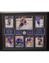 EDMONTON OILERS 7 PHOTO - 22X28 FRAME
