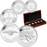 2012 FINE SILVER 5-COIN SET - FAREWELL TO THE PENNY