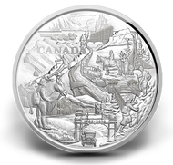 2010 $250 KILO SILVER COIN - 125TH ANNIVERSARY OF BANFF - QUANTITY SOLD: 525