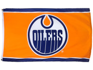 ORANGE EDMONTON OILERS POLYESTER FLAG  - 3 X 5 FEET - INDOOR/OUTDOOR - BRAND NEW