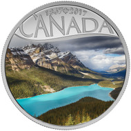 2017 $10 FINE SILVER COIN CELEBRATING CANADA'S 150TH: PEYTO LAKE
