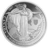 2017 $100 FINE SILVER COIN - A MARI USQUE AD MARE THE DIAMOND JUBILEE OF THE CONFEDERATION OF CANADA MEDAL