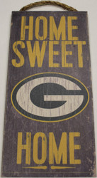 "GREEN BAY PACKERS - OFFICIAL NFL HOME SWEET HOME 6 X 12"" WOODEN SIGN"