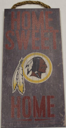 "WASHINGTON REDSKINS - OFFICIAL NFL HOME SWEET HOME 6 X 12"" WOODEN SIGN"