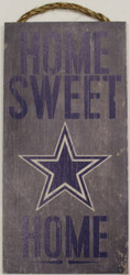 "DALLAS COWBOYS - OFFICIAL NFL HOME SWEET HOME 6 X 12"" WOODEN SIGN"