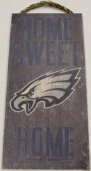 "PHILADELPHIA EAGLES - OFFICIAL NFL HOME SWEET HOME 6 X 12"" WOODEN SIGN"